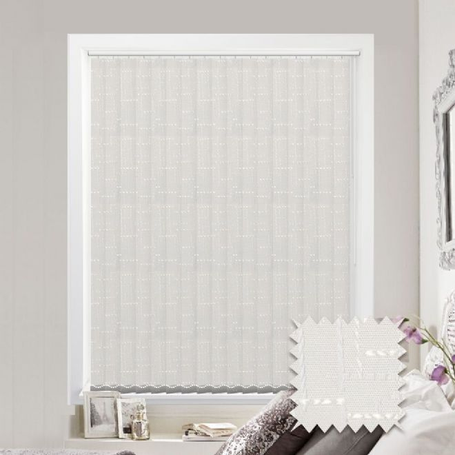 Vertical blinds - Made to Measure vertical blind in Malimo Frost - Just Blinds